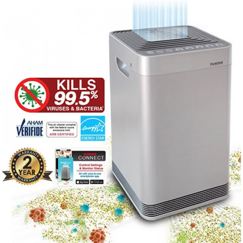 NUWAVE OXYPure Wifi Enabled | Smart Premium 360Deg Air Purifier |20yr Filters| Cleans Viruses | To 48m2
