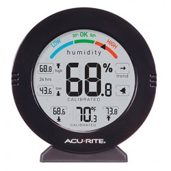 NEW! AcuRite Round Temp/Hum Meter+ Alert and Calibration