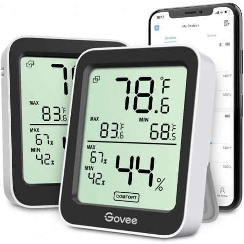 Govee_Bluetooth Humidity/Temp Monitor | Iphone Android Compatable