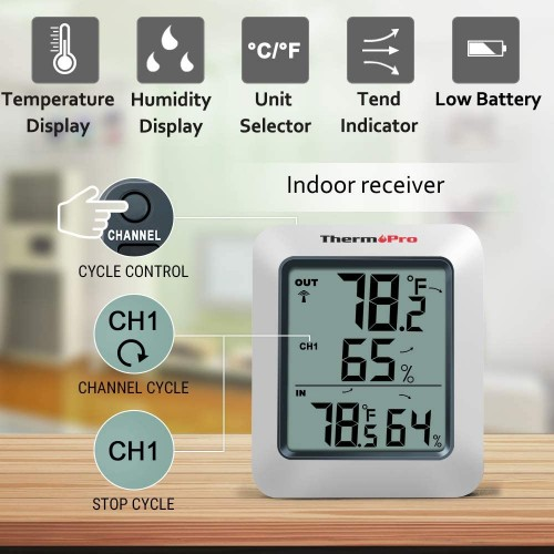 Meter Thermo Pro Wireless - Temperature/Humidity meter with remote sensor